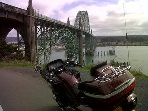 Newport bridge and bike